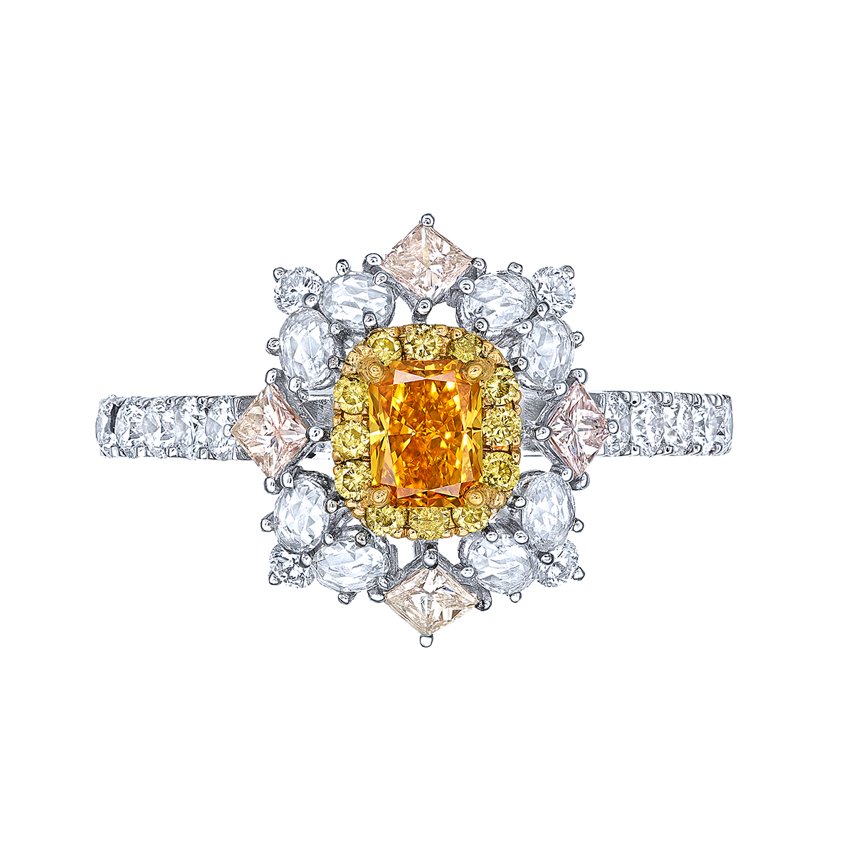 GIA 0.31克拉 艷彩橘鑽鑽戒