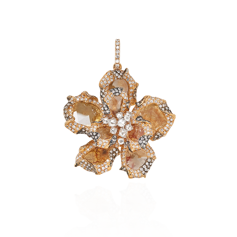 GSA 彩色鑽片與鑽石墜鍊 6.25克拉