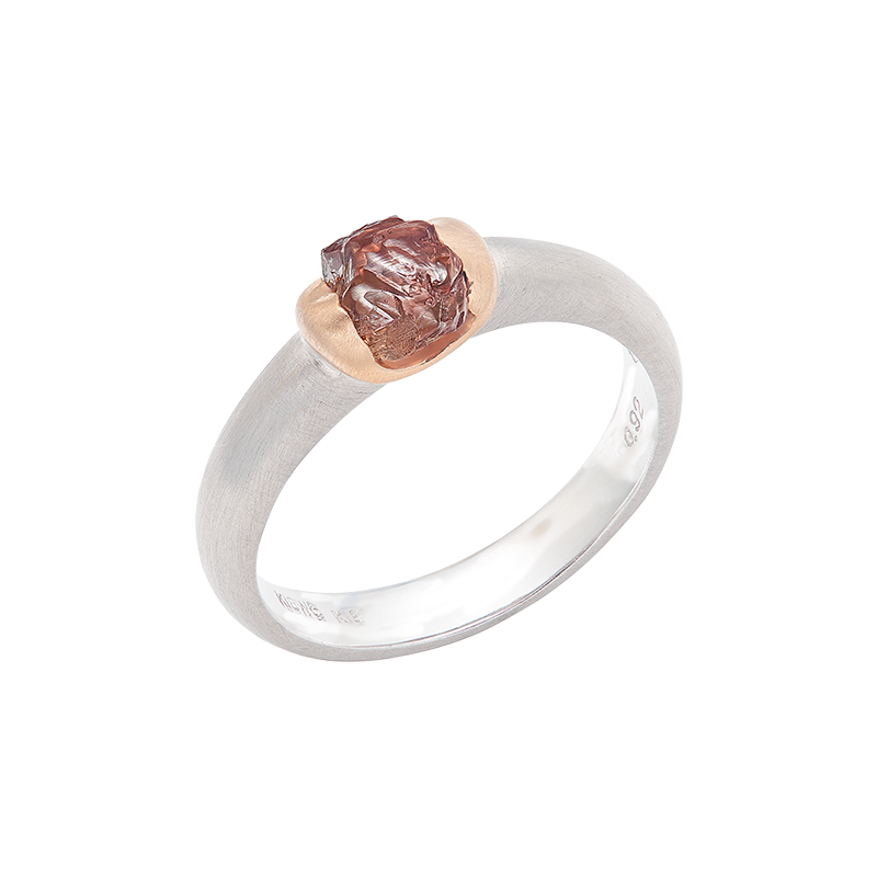 GSA 彩鑽原礦鑽石戒 0.92克拉