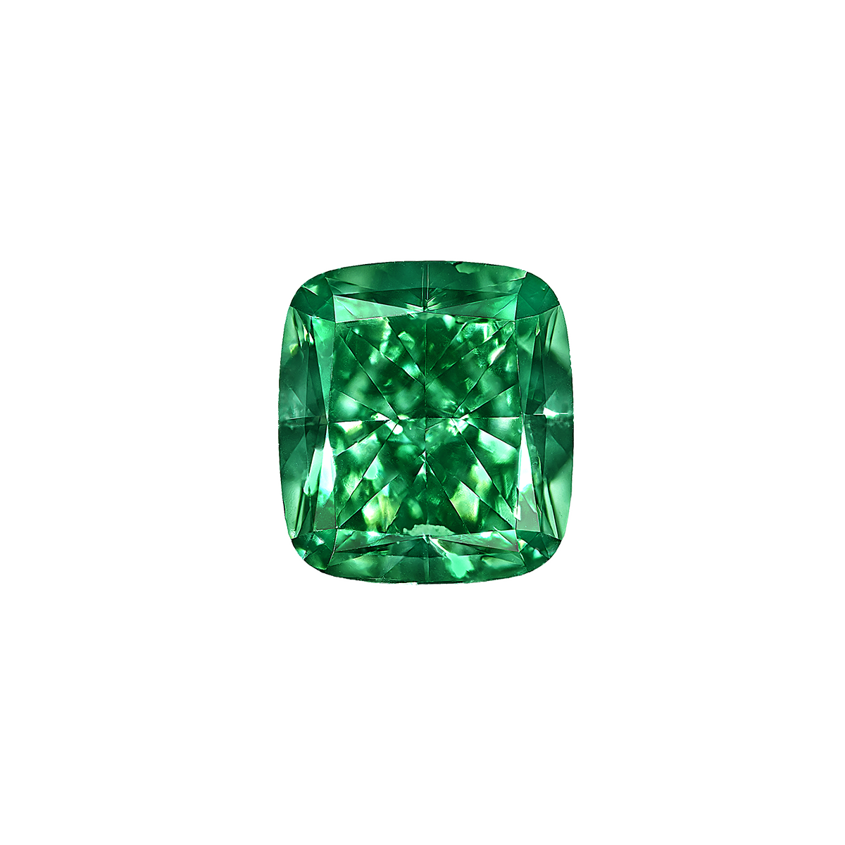 GIA 1.01 克拉 深彩綠鑽裸石