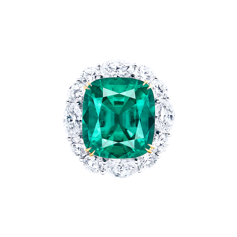 GRS 哥倫比亞艷彩祖母綠鑽石戒 8.81克拉