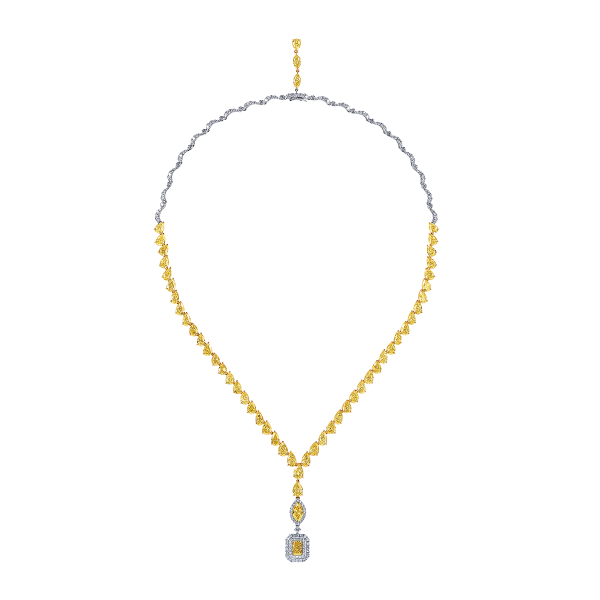 GIA 濃彩黃鑽套鍊 27.302克拉