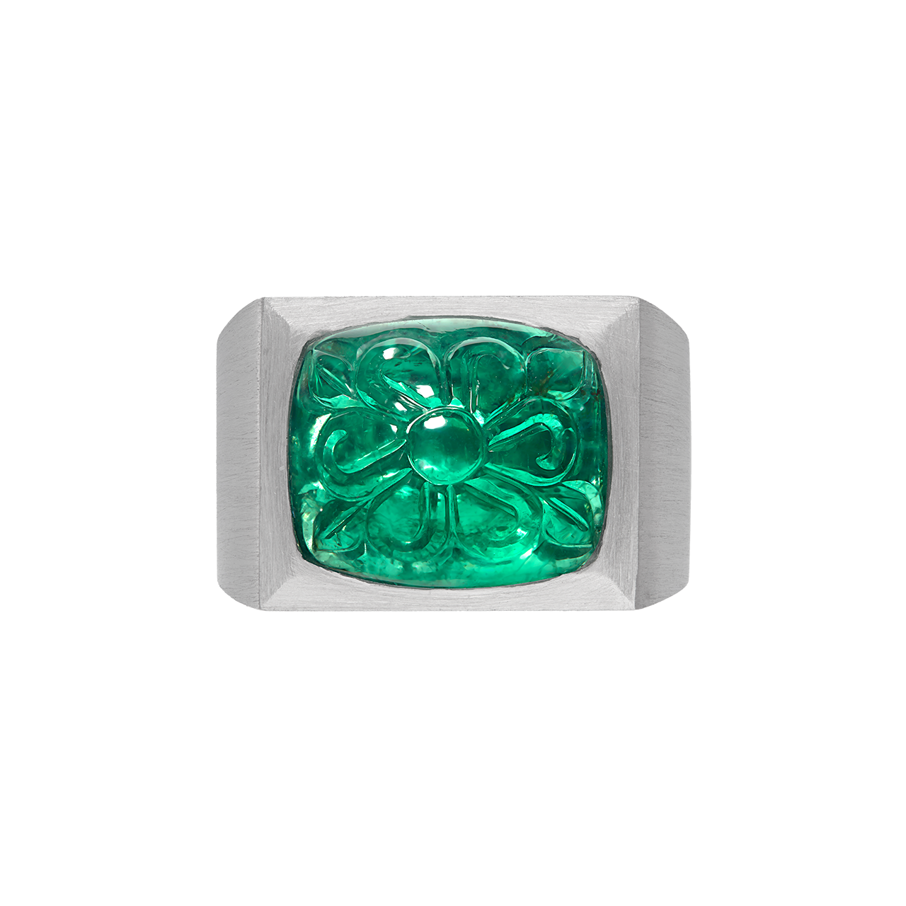 AGL 尚比亞雕刻祖母綠戒指 15.78克拉