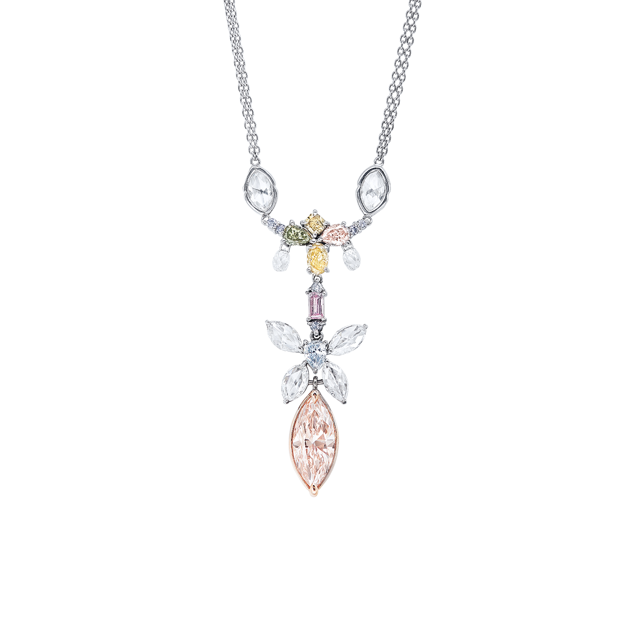 GIA 彩鑽鑽石套鍊 7.9公克