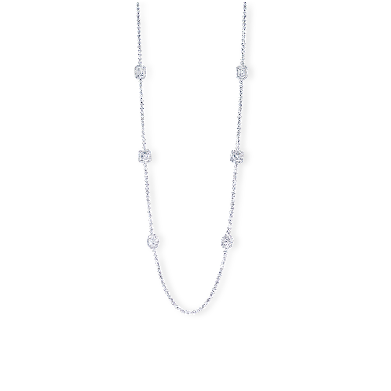 鑽石長套鍊 513P10.49克拉