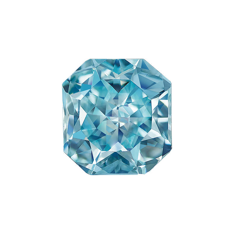 艷彩綠藍彩鑽裸石 0.89克拉