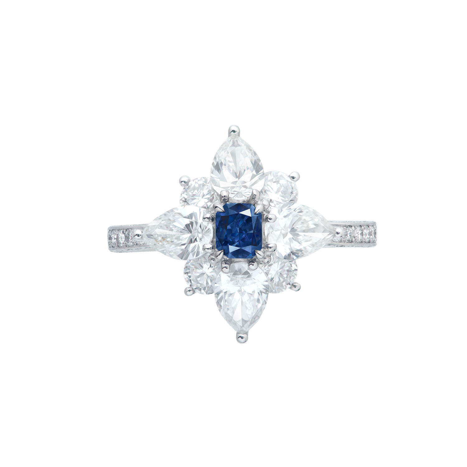 GIA 0.23克拉 暗彩灰藍鑽鑽戒