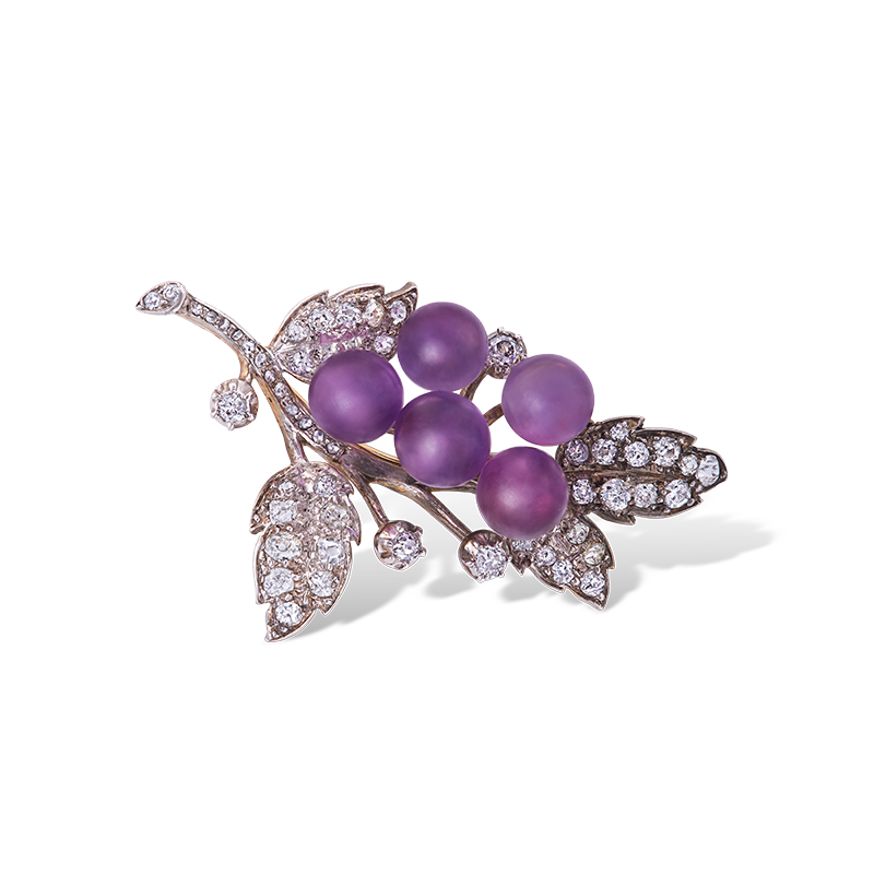 美好時代古董鑽石胸針 10.57克