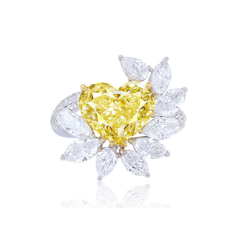 GIA 黃彩鑽鑽石戒 5.04克拉