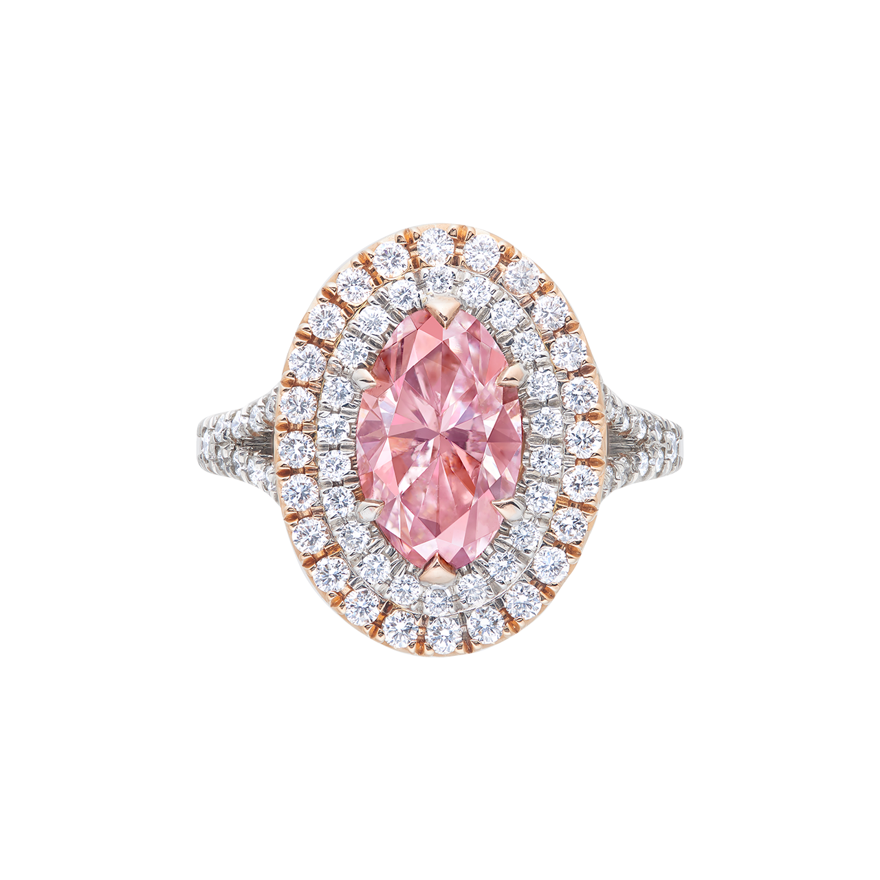 GIA 粉鑽鑽石戒 1.72 克拉