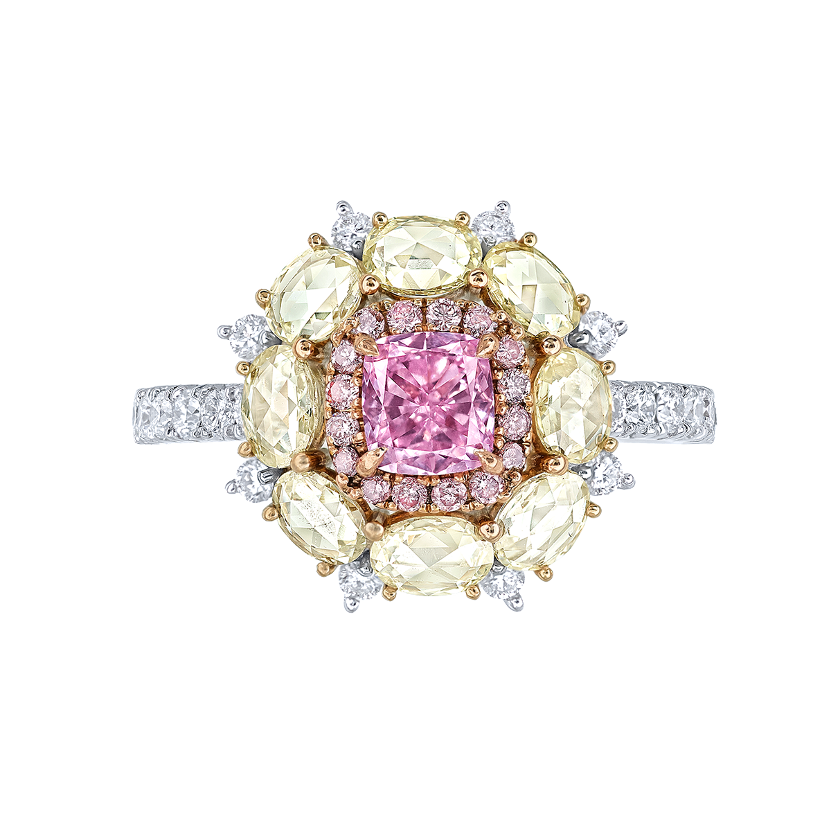 GIA 0.52克拉 粉紫鑽鑽戒