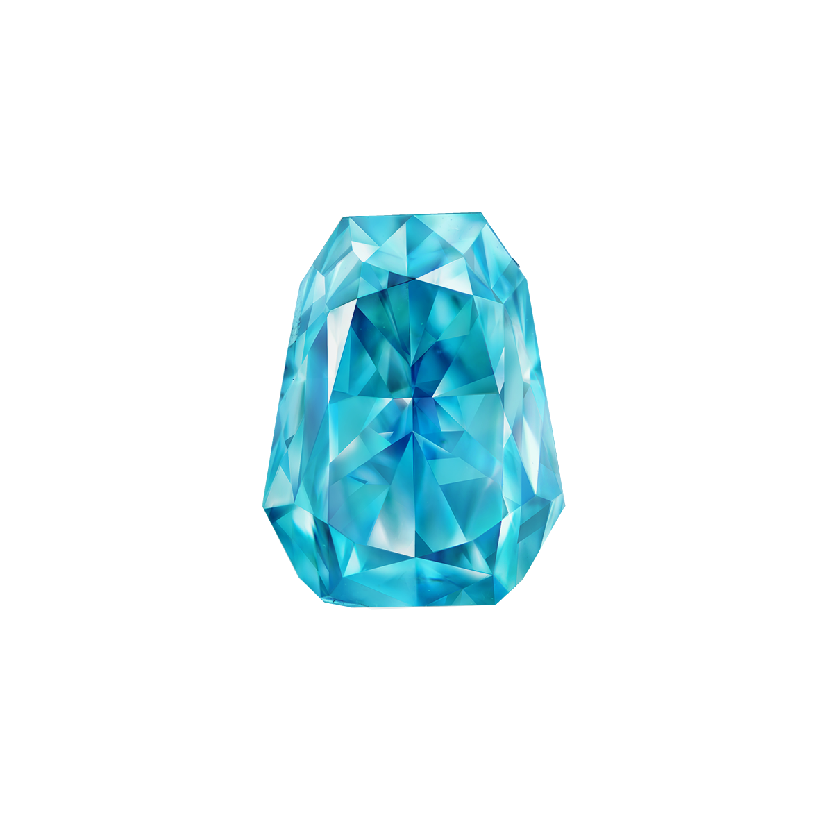GIA 1.56克拉 艷彩綠藍彩鑽裸石 