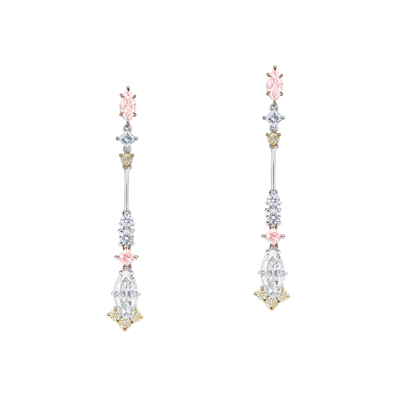 GIA 彩鑽鑽石耳環 0.26克拉 0.26克拉