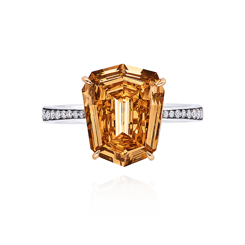 GIA 彩鑽鑽石戒 4.14克拉