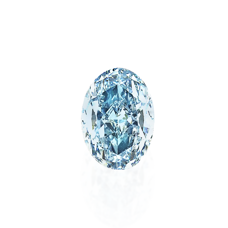 GIA 濃彩綠藍彩鑽裸石 1.01克拉