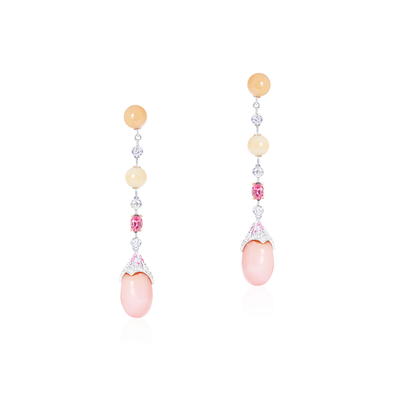 GIA EGL 天然孔克珠鑽石耳環 6.35克拉