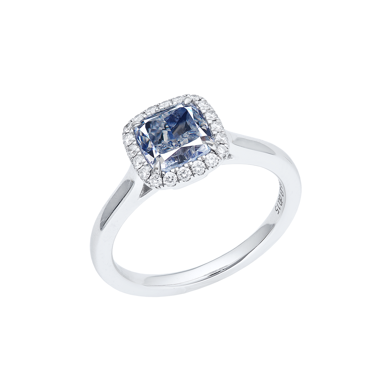 GIA 淡藍鑽鑽石戒 1.43克拉