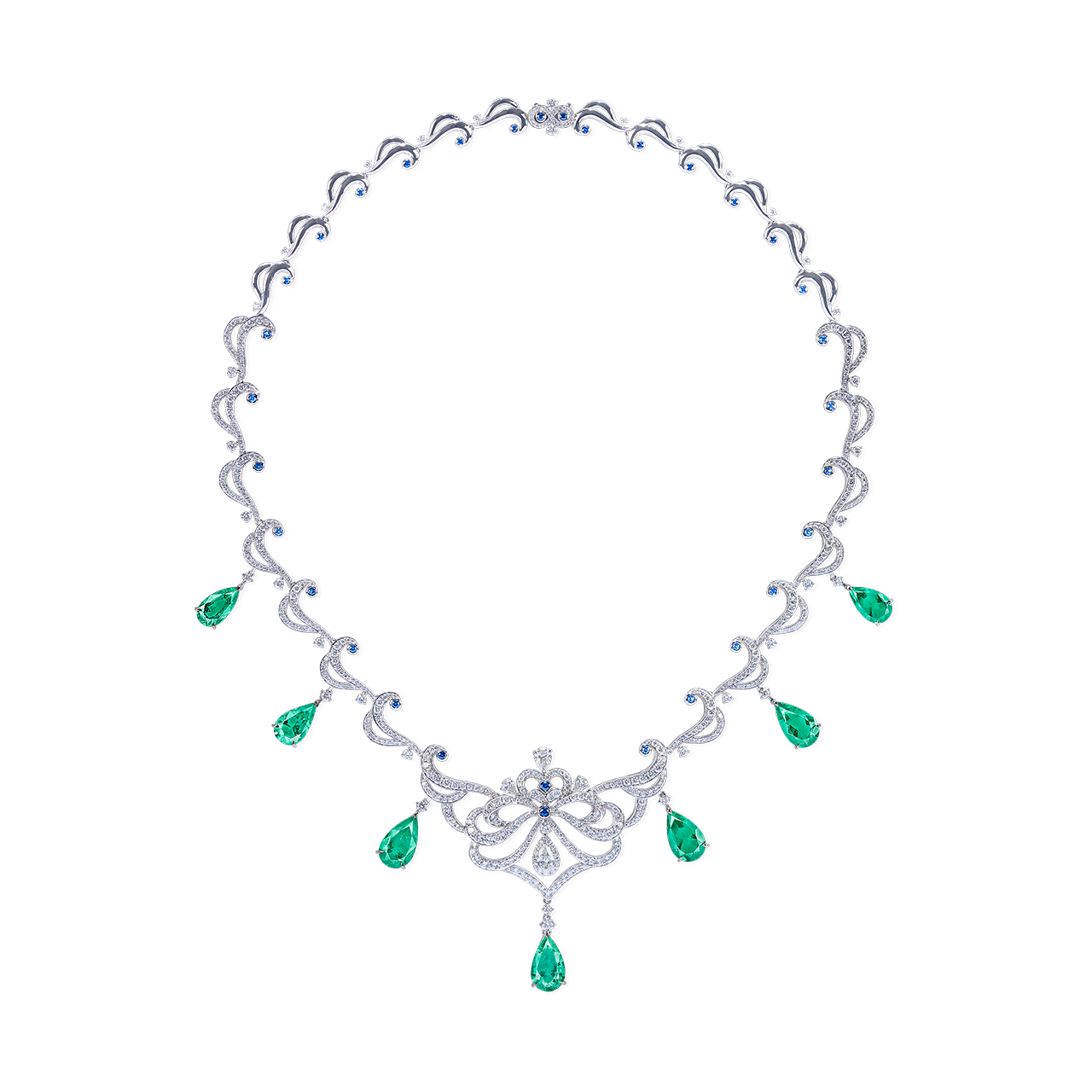 GRS 無油祖母綠套鍊 7P 20.51克拉