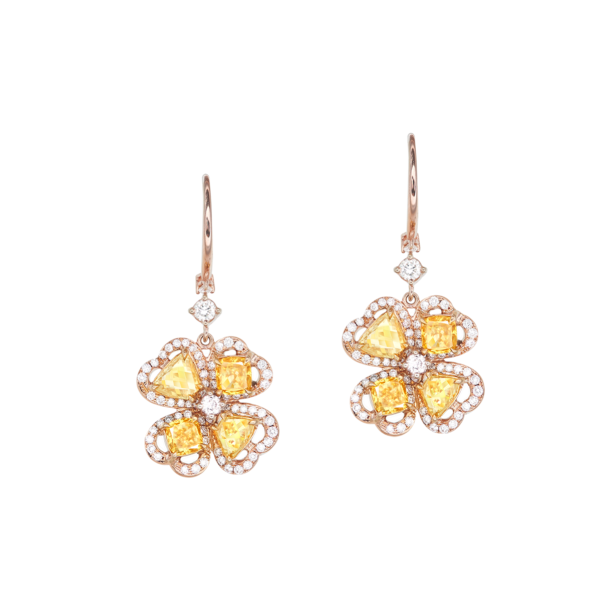 ALROSA黃鑽耳環 1.96克拉
